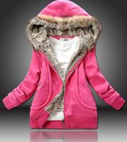 2014 new women winter fur jacket lady warm coat 3 colors in stock M L XL XXL Chaquetas free shipping