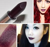 NEW High Quality Makeup Cosmetic Dark Purple Black Lipstick Sexy Charm Matte Lipstick