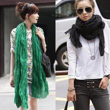 Hot !!! 2014 Moda de América y Europa Estilo mujer Pañuelos Sólido Algodón gasa suave y cálida bufanda del mantón de 20 colores disponibles Sc0014(China (Mainland))