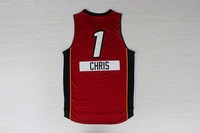 2014 -15 christmas day Miami #1 Chris BOSH Men's basketball jersey red