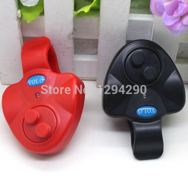1PCS Free Shipping Durable Electronic Fish Bite Finder Alarm LED Light Bell Clip Fishing Rod Black rJAp(China (Mainland))