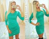 summer and spring long sleeve o neck women dress fashion slim party  bandage dress