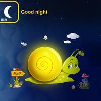 Children painting diy wall stickers intelligent light control nightlight forcedair snail wallpaper wall lamp child cartoon led