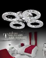 Modern 4 circle crystal chandelier crystal chandelier Silver Crystal Ring LED light LED light ring chandelier