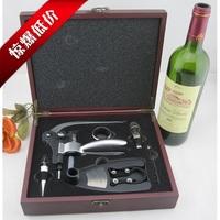 Wine Opener Sets Shrimp Head Wine Bottle Opener,Oxygenating Wine Pourer,Wine Ring and Bottle Plug-Silver+Red