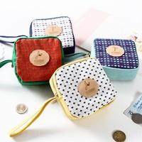 Free shipping BF050 Creative small zero purse cotton canvas women Wallet Zipper change bag wallet 10*10*5cm