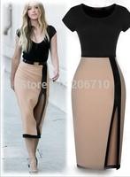 2015 New Fashion Casual Dress For Women Black Edge Evening Long Casual Dress Party Dress Woman Clothing Vestido De Festa Longo