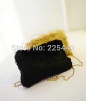 2014 autumn and winter fashion women plush messenger bag small all-match chain shoulder cross-body bag
