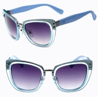 5 Colors Lady's Fashion Anti UV 400 Metal Classical Transparent Round Sunglasses 2014 Women's Sunglasses 8061