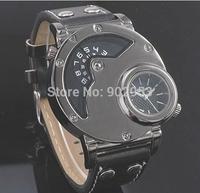OULM Russian Army Military Dual Time Men Quartz Wristwatch HOT Sale 3 Colors Waterproof Fashion Men's Sport Watch High Quality