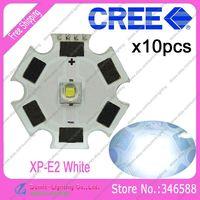 10pcs/lot! Cree XLamp XP-E2  XPE2  Cool White 6000K-6500K 220LM 1W 3W LED Light Emitter w/20mm Star Platine Heatsink