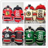 New Chicago Blackhawks Hoodies Jerseys #81 Marian Hossa Old Time Hockey Hoodies Sweatshirts Black Skull Green Red Beige M-3XL
