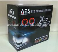 AES X1C H4 Bi-xenon double angeleye  hid projector lens kit, H7 Headlight, easy install