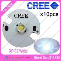 10pcs/lot! Cree XLamp XP-E2  XPE2  Cool White 6000K-6500K 220LM 1W 3W LED Light Emitter on 16mm Platine Heatsink