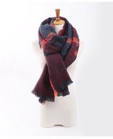 za Winter 2014 Tartan Scarf Desigual Plaid Scarf New Designer Unisex Acrylic Basic Shawls Women's Scarves Big Size