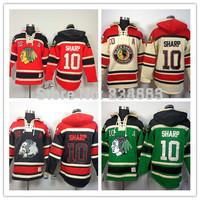 New Chicago Blackhawks Hoodies Jerseys #10 Patrick Sharp Old Time Hockey Hoodies Sweatshirts Black Skull Green Red Beige M-3XL