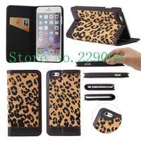 Leopard-grade leather phone case Holster Phone package Phone Case La caja del telefono Cas de telephone for iphone6 iphone6 plus