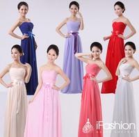 long bridesmaid dress 2014 vestido de festa longo free shipping bn23