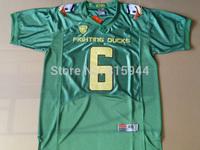 College Oregon Ducks #6 De'Anthony Thomas green ncaa football jerseys mascot patch mix order free shipping