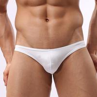 Male sexy low-waist u solid color panties transparent tight fashion sexy bikini thong
