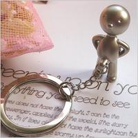 5pcs Fashion Classic 3D fork mr.p keychain key ring male car key chain birthday gift