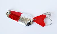 free shipping 10pcs swim bait fishing spoon hard metal fishing lures with hook spoon lures 6.5CM 34G 1# hooks fishing tackle