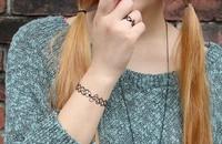 ZH1004 New 2014 Vintage Stretch Tattoo Bracelet Punk Retro Gothic Elastic bangle for women lady christmas gift