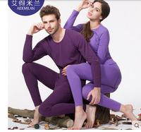 Male 100% cotton fashion thermal underwear thin women's slim long johns long johns set