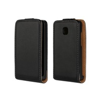 New Luxury Black Flip Leather Case Cover For LG Optimus L3 II 2 Cell Phone Cases