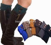 godbead Lady's Fashion Crochet Knitted Button Down Boot Cuffs Toppers Leg Warmers Socks