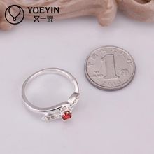 2014 NEW 925 silvering rings ruby Simulated Diamonds Fashion Austrian Crystal Acessories Vintage Jewellery