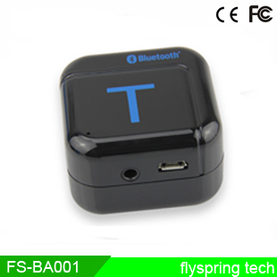 Bluetooth V2.1 (Class II) with A2DP stereo lossless transmission Wireless Bluetooth Wireless Audio Adapter Flyspring FS-BA001(China (Mainland))