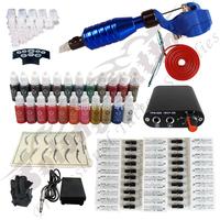 Hawk Rotary Tattoo Machine Hot-sale Gun Kit Permanent Makeup Pen +Power Supply+50 pcs Hawk Tattoo  Needles+Makeup ink TK115-4