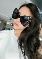 Ks viktor & rolf three-dimensional bow style sun glasses oversized sunglasses