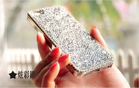 New arrival luxury Bling Full Diamond case for Apple iphone 6 Plus 5.5 inch phone case back cover With Retail box + Free Film