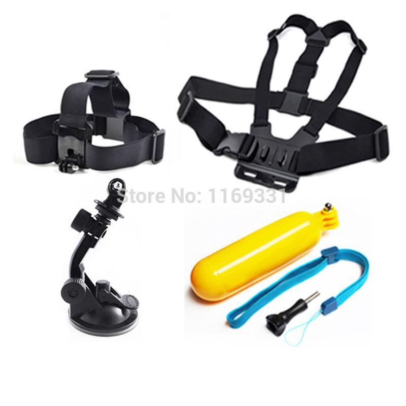 Accessory Black Silver Gopro Hero 4 Kit Outdoor Sports Bundle Kit For Gopro