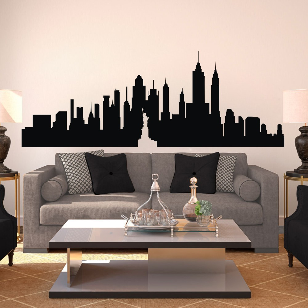 Buy new york city skyline the big apple for Apple boutique mural