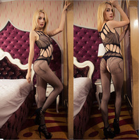Freeshipping DLTrailer Sexy Lingerie Strap Mesh Tight See-through Leotard