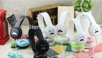 wholesale 3.5 mm earphone Beard big headphones fashion headset  For Computer Game MP3 dj  handsfree Free shipping