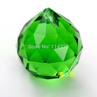 Modern Fashion green K9 Crystal Diameter 30mm hang Chandelier Crystal ball Pendants fengshui christams gift