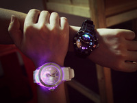 Free Shipping 20pcs/lot New Luminous LED Watches Fashion Glow In Night Watch Gifts For Lovers Factory Direct Price