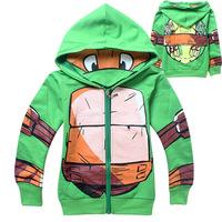 Teenage Mutant Ninja Turtles Boys Jackets Fashion Cartoon Children Hoodies Outerwear Clothes Movie Costume Autumn Kids Coat 202