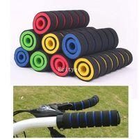 Wholesale (4pcs/pack) Bike Foam Handlebar Soft Sponge Bar Grips For Bicycle Cycling Bike blue,yellow,red,green for Xmas A2