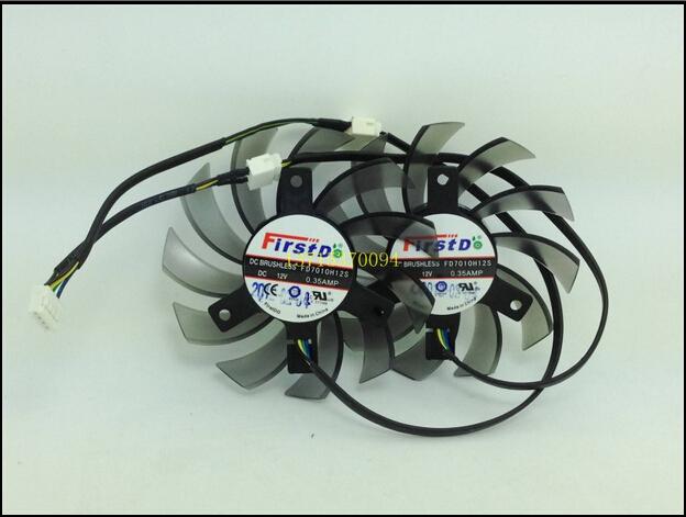 Охлаждение для компьютера Firstdo HD7850 1g, 2 g FD7010H12S FD7010H12S new sapphire hd7850 1g 2g platinum edition firstdo fd7010h12s game card double fan