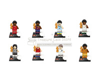 SY162  World Cup  8pcs  Football star Minifigure Building Blocks Brick Toy  Compatible With Lego