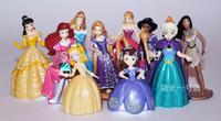 7-12cm fro zen Princess Elsa Sofia Bella Tangled Pocahontas Jasmine Ariel PVC Action Figure Toys Children Toy Dolls60sets/lot