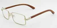 golen frame Red sandalwood optical glasses women men mypia use safety fashion glass z4180