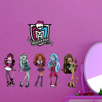 2014 new children room Monster High kindergarten wholesale removable  waterproof wall stickers home decoration free shipping