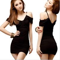 2014 European  American women dress sexy nightclub Slim package hip  dress  bottoming Dress