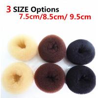 Hotsale 3 colors 3 Size Foaming donut balls Shape Hair Bun Ring Donut Shaper Former Sponge Hair Maker StylingTool